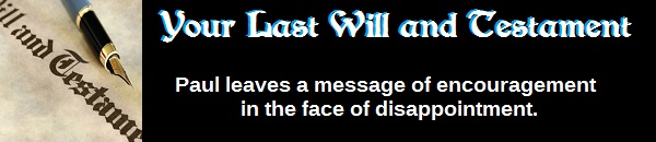 Your Last Will and Testament (by Walt Henrichsen)