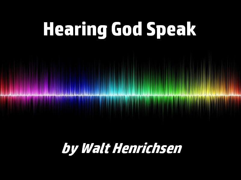 Hearing God Speak