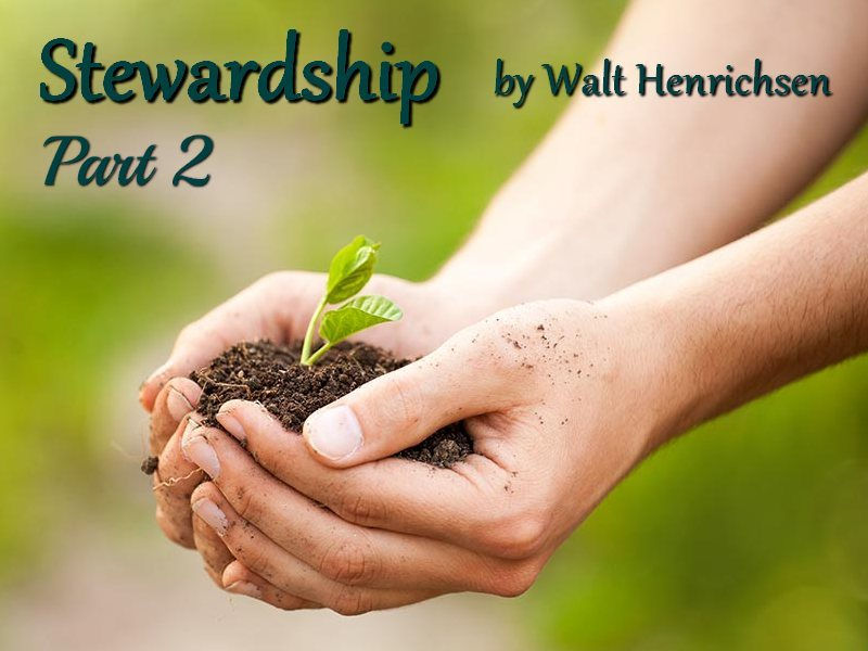 Stewardship Part Two